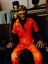 HALLOWEEN HAUNTED HOUSE MAN IN ELECTRIC CHAIR in Elgin, Illinois