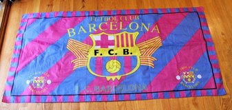 Barcelona Futbol Club FCB Soccer Team Flag/Banner -- 29.5 x 58.25 inches in Joliet, Illinois
