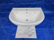 **Bathroom Barclay Compact White Wall-Mount Round Bathroom Sink in Westmont, Illinois