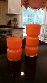Crate and Barrel Orange Totem Vases in Westmont, Illinois