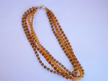 **REDUCED** multi strand faceted glass bead vintage necklace with rhinestone clasp in Chicago, Illinois