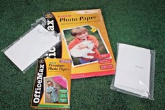 OfficeMax & HP Photo paper - 8.5 x 11,  4 x 6 & 4 x 6.5 inch in Glendale Heights, Illinois