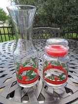 Libbey Holly & Berry Wine Carafe and Canister Set**Christmas/Holiday in Algonquin, Illinois