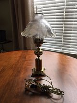 Brass Bedside Lamp with Chimney and Glass Shade**Excellent Condition**# 2 in Algonquin, Illinois