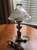 Brass Bedside Lamp with Chimney and Glass Shade**Excellent Condition**# 1 in Algonquin, Illinois
