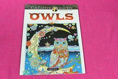 adult coloring book owls creative haven in Kingwood, Texas