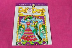 adult coloring book day of the dead creative haven in Kingwood, Texas