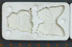 vintage plaster ceramic casting mold - frog and butterfly in Kingwood, Texas