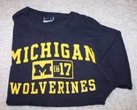 Michigan Wolverines Blue Tee, Old Varsity Brand, Large in Oswego, Illinois