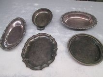 Misc Silver Platters/plates in Cherry Point, North Carolina