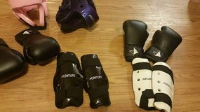 Sparring gear in Fort Carson, Colorado