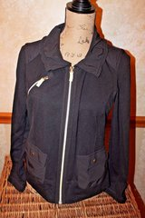 ZENERGY by Chico's Black Zip Front Knit Jacket, Chico's Sz 0 - Small in Chicago, Illinois