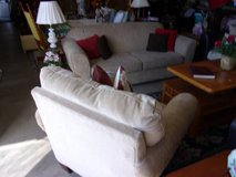 Two Piece Overstuffed Couch and Chair Set in Fort Riley, Kansas