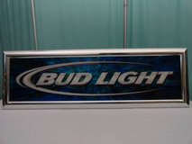 VINTAGE 2003 ANHEUSER BUSCH BUD LIGHT BEER BAR SIGN in Travis AFB, California