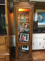 ~WOOD AND GLASS CURIO CABINET~LIGHT INSIDE in Naperville, Illinois