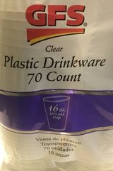 GFS 16 oz. Plastic Drinking Cups - 70 Count in Oswego, Illinois