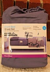 NWT Room Essentials Dorm Bed Sheet Set, Twin XL - Benzoyl Peroxide Resistant! in Bolingbrook, Illinois