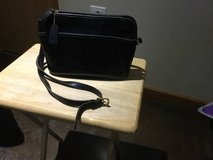 Coach purse, authentic, black leather in Naperville, Illinois