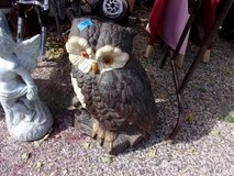 Large Eyed Owl Statue in Fort Riley, Kansas