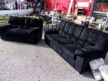 Black Velvet Couch and Love Seat Set in Fort Riley, Kansas