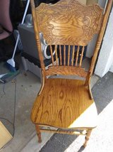 August Grove Style Country Style Dining CHAIR Solid Wood Spindles Carved in Travis AFB, California