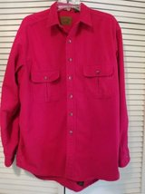 Mens dark red soft shirt button front jacket in Camp Pendleton, California