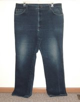 Lee Classic Straight Leg Denim Jeans Mens Big & Tall Tag 44x34 Measures 40x32 in Morris, Illinois