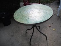 MOSAIC TABLE GREEN   WHITE TILES---REDUCED in Bolingbrook, Illinois