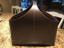 :) CRATE AND BARREL LEATHER MAGAZINE HOLDER in Naperville, Illinois