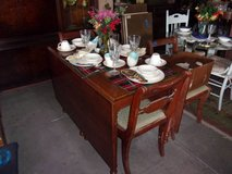 Maple Gate Leg Table With Pads and Four Matching Chairs Set in Fort Riley, Kansas