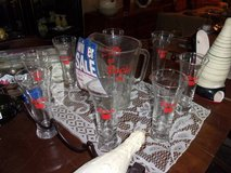 Coors Pitcher and Eight Matching Glasses Set in Fort Riley, Kansas