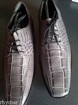 stacy adams pietro gray leather print dress shoes 24675 - nib in Naperville, Illinois