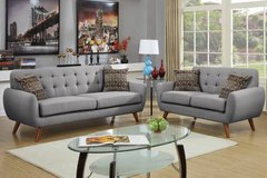 Gray Sofa and Loveseat Retro Style Set FREE DELIVERY in Camp Pendleton, California