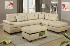 Khaki Tan Sectional Sofa Reversible FREE DELIVERY in Camp Pendleton, California