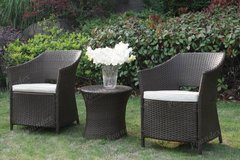 3 Piece Outdoor Set 2 Chairs and Table Bistro Patio Set FREE DELIVERY in Camp Pendleton, California