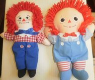 set of 2 raggedy andy dolls by johnny gruelle applause 1991 hasbro 2000 in Lockport, Illinois