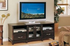 New Dark Brown TV Media Stand with Storage  FREE DELIVERY in Camp Pendleton, California