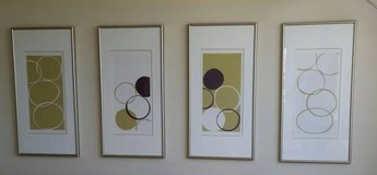 "4 BRUSHED STEEL FRAMED 17""x 34"" PISTACHIO PRINTS I, II, III & IV in Tampa, Florida"
