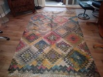 Hand Woven Native American with Fringe Rug in Travis AFB, California