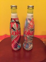2016 diet coke glass 2 bottles - 12 fl oz - unopened COLLECTIBLE in Morris, Illinois