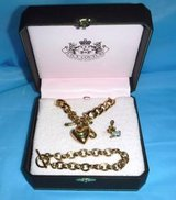 Juicy Couture Classic Gold tone Necklace & Bracelet Charm Starter Set in Orland Park, Illinois