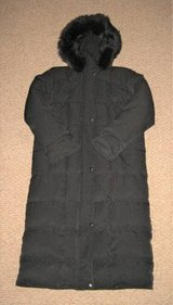 ANNE KLEIN REAL DOWN PETITE SMALL LONG COAT - BLACK in Plainfield, Illinois