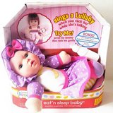 New! Nursery Love Talking, Eat 'n Sleep Baby Doll w/bottle  ~Kingstate in Orland Park, Illinois