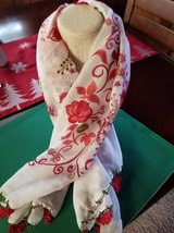 Beautiful crocheted edge scarf/head covering from Turkey in Oceanside, California