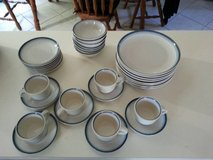 Coffee cups. saucers, desert plates, plates set Used in Joliet, Illinois