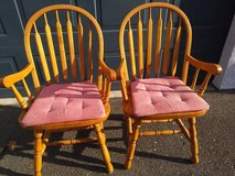 2 Classic Windsor Style Arm Chair with removable pads in Travis AFB, California