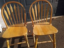 2 basic maple dining chair in Travis AFB, California