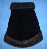 Small Pet / Dog Coat Sz Med - Faux Fur Trim Quilted Clothing in Orland Park, Illinois
