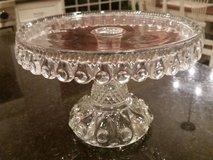 Cake Pedestal - Clear Glass - Vintage - Very Detailed in Westmont, Illinois