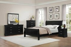 **NEW Sleigh Bedroom Suite--ALL PIECES--Queen Bed, Dr, Mr, NS + Chest in Beaufort, South Carolina